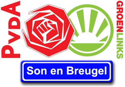 Logo PvdA/GroenLinks Son en Breugel
